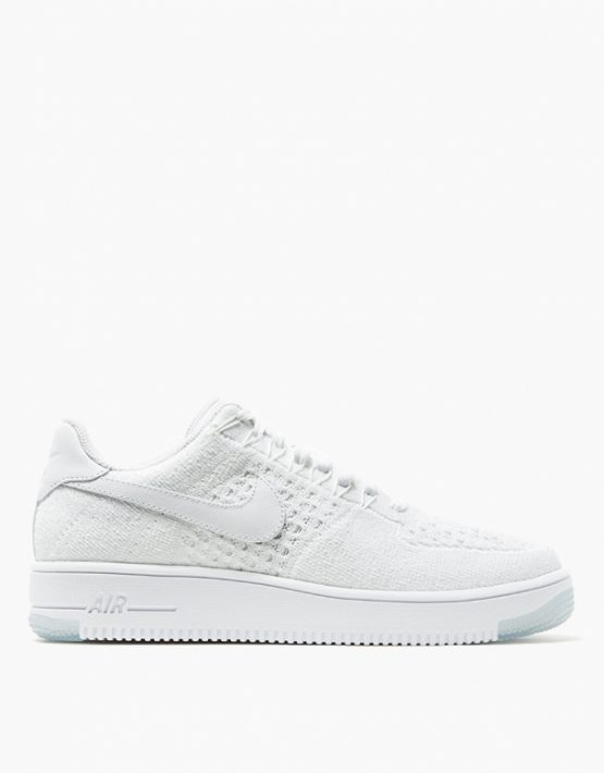Nike Womens AF1 Flyknit Low White 1
