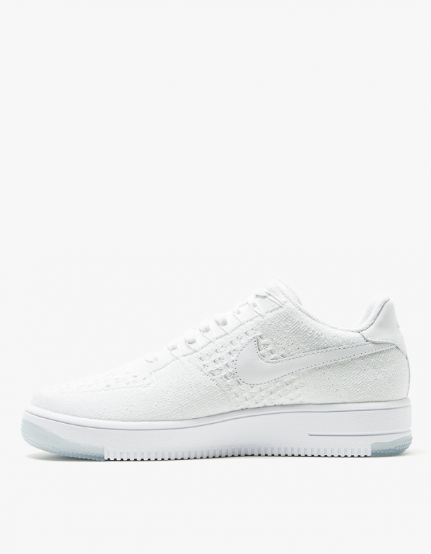 Nike Womens AF1 Flyknit Low White 2