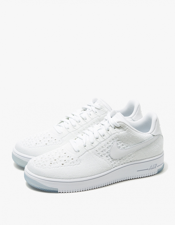 Nike Womens AF1 Flyknit Low White 3