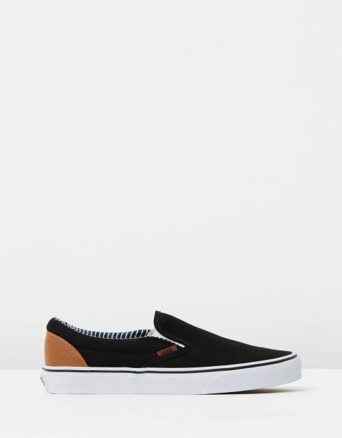Vans Wmns Slip on Black stripe Denim 1