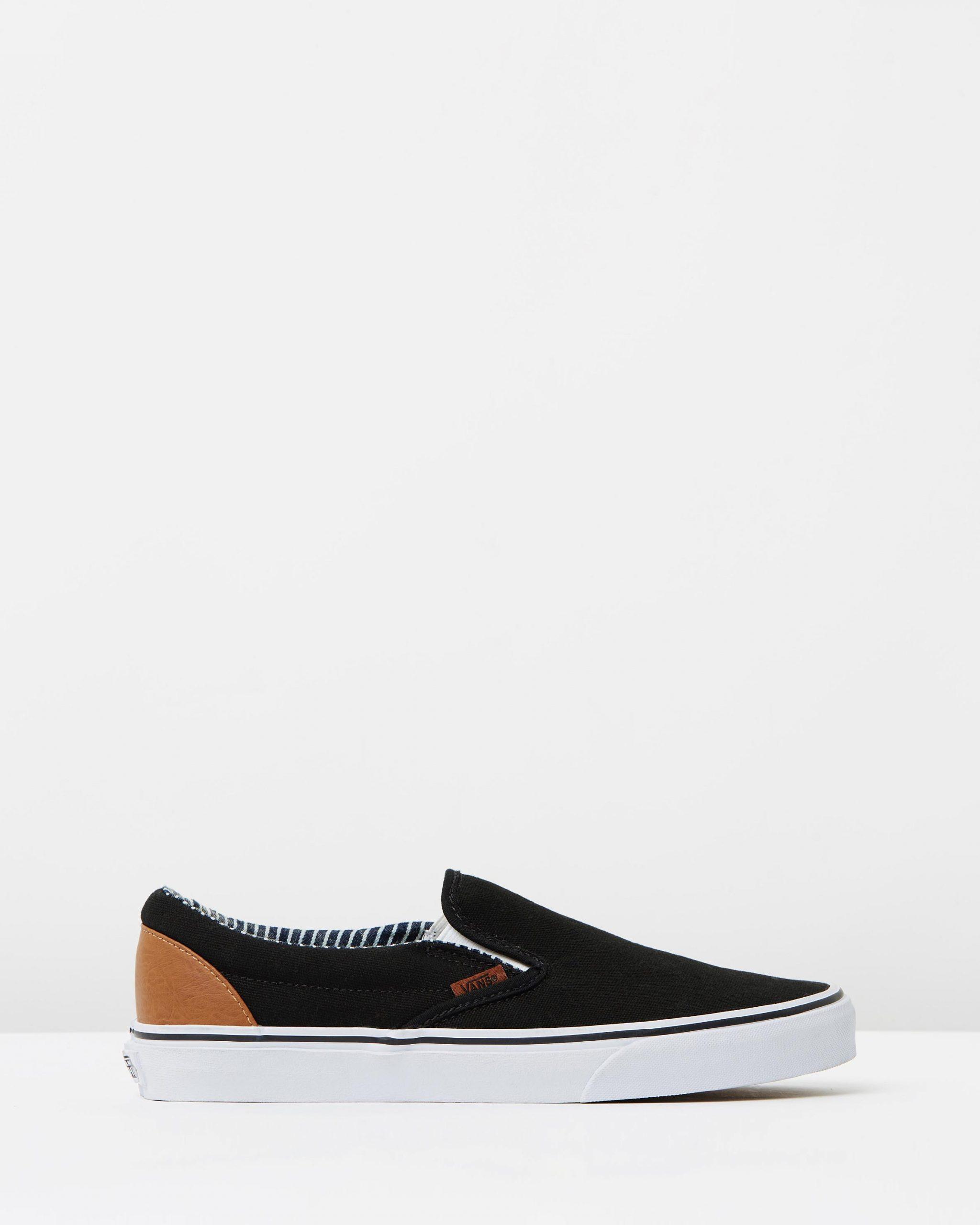 Vans Wmns Slip-on Black/stripe Denim
