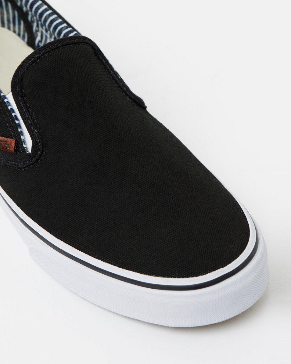 Vans Wmns Slip on Black stripe Denim 4