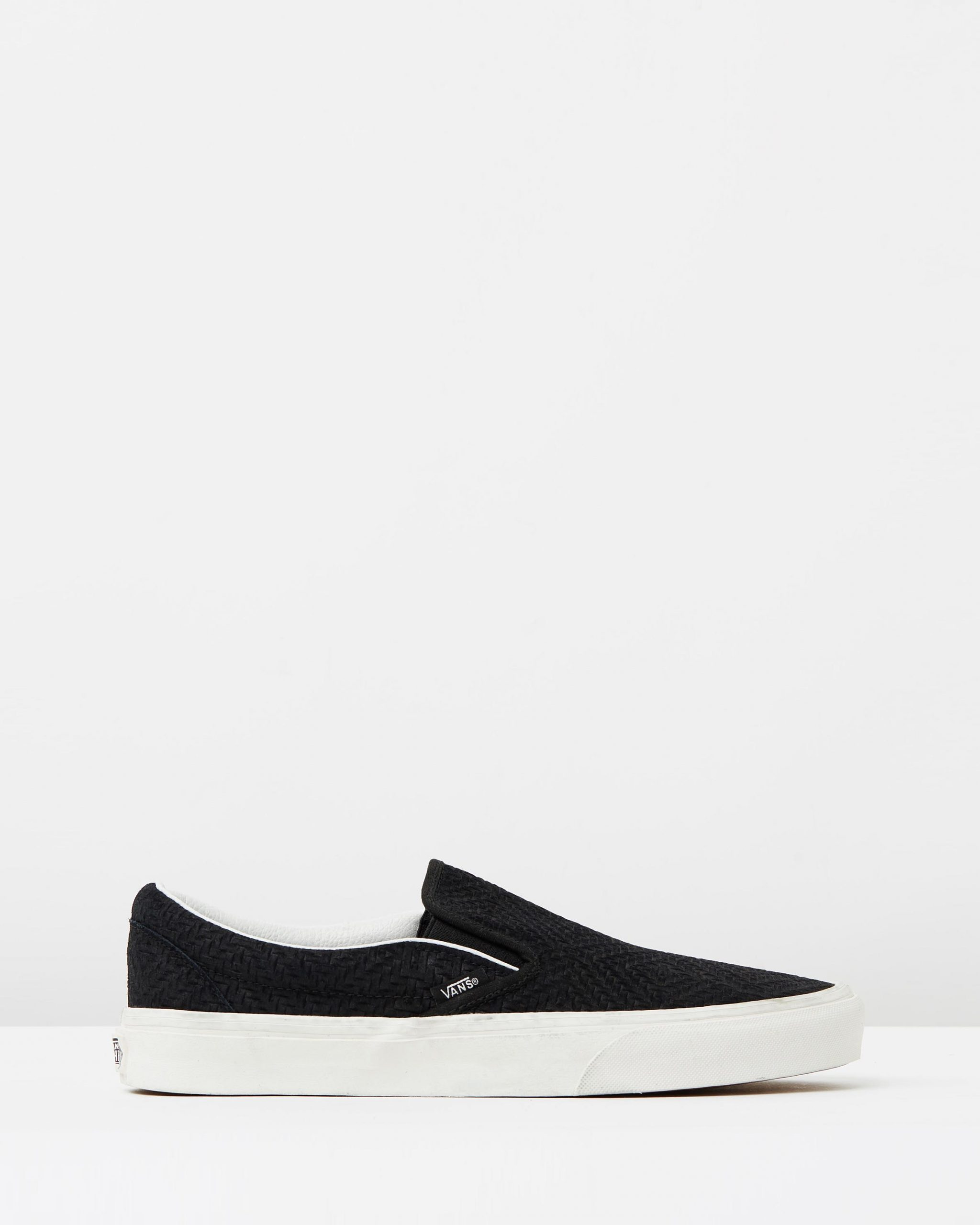 Vans Womens Classic Slip-On Black Suede Trainers