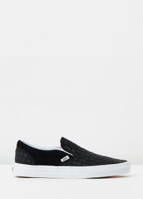 Vans Womens Classic Slip On Suede Checkers Black 1