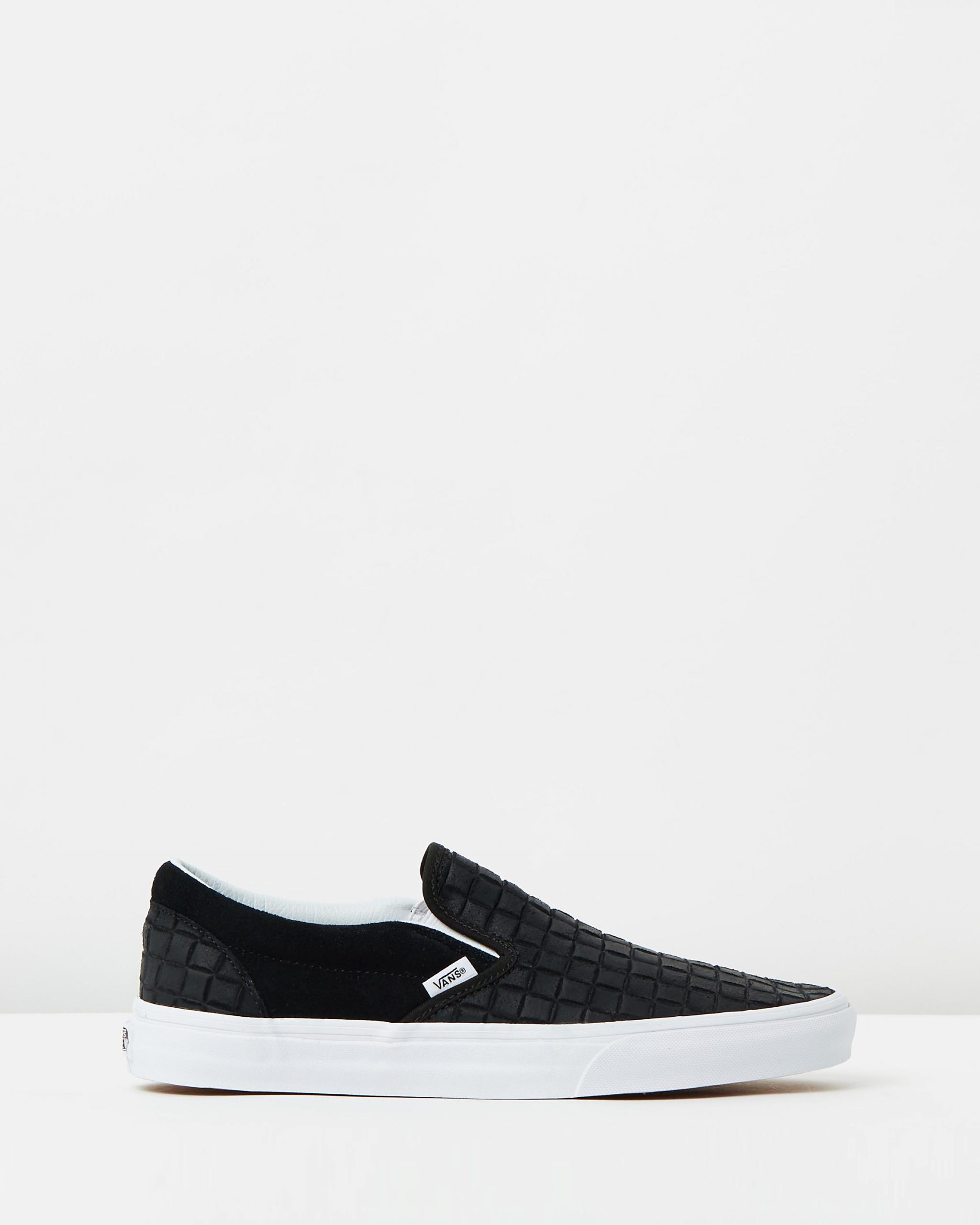 Vans Womens Classic Slip-On Suede Checkers Black