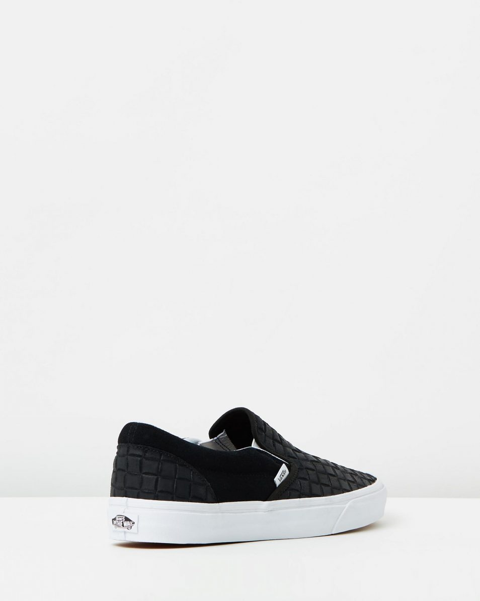 Vans Womens Classic Slip On Suede Checkers Black 2