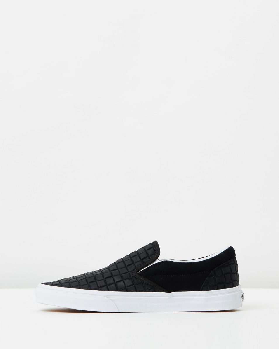 Vans Womens Classic Slip On Suede Checkers Black 3