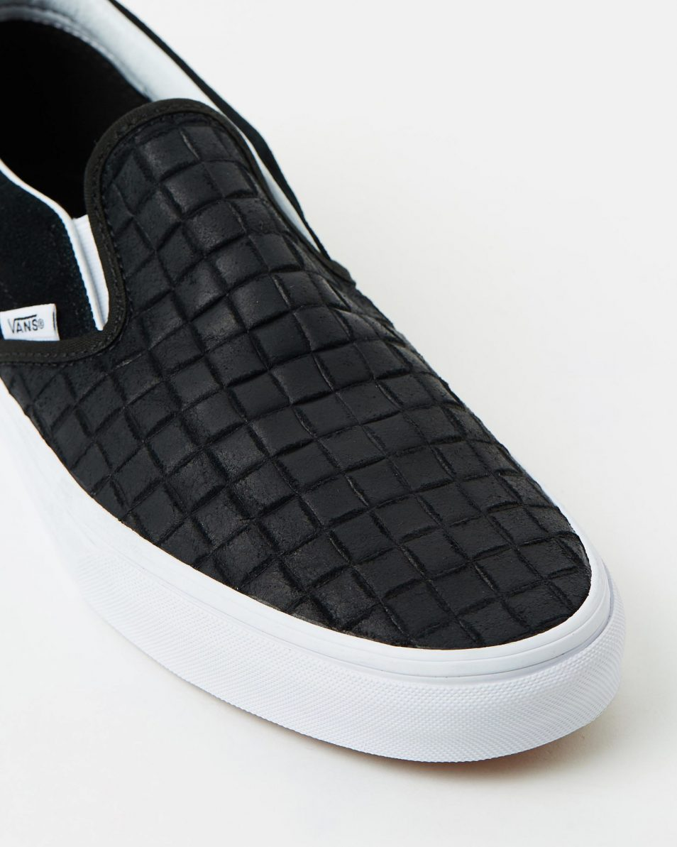 Vans Womens Classic Slip On Suede Checkers Black 4