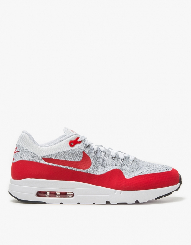 Wmns Nike Air Max 1 Ultra Flyknit White/University Red