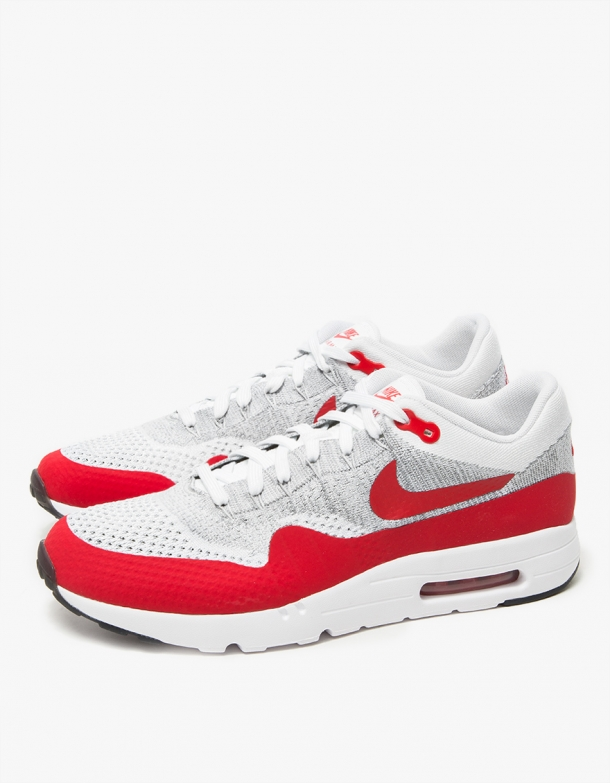 Wmns Nike Air Max 1 Ultra Flyknit White University Red 3