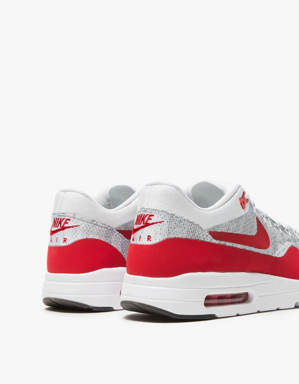 Wmns Nike Air Max 1 Ultra Flyknit White University Red 4