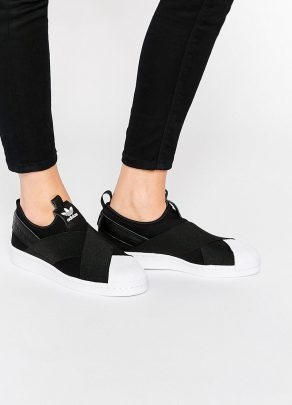adidas Originals Black Superstar Slip On Trainers 1