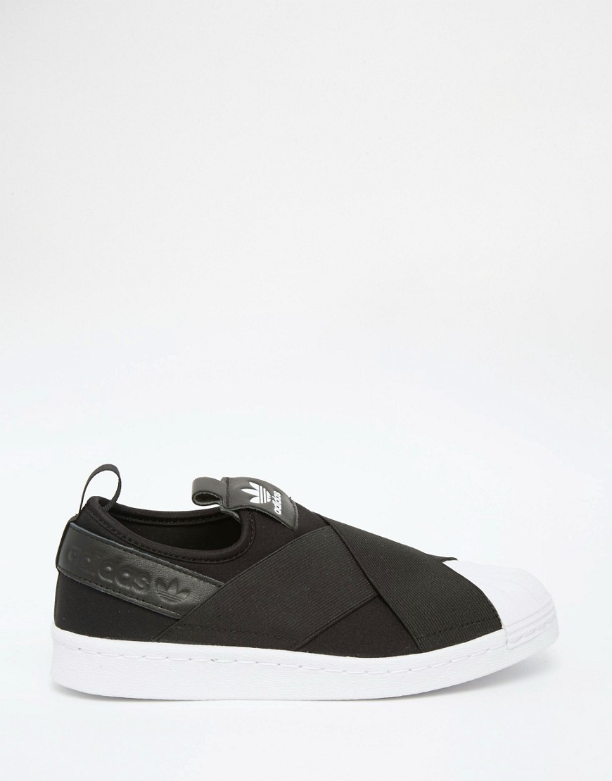 adidas Originals Black Superstar Slip On Trainers 2