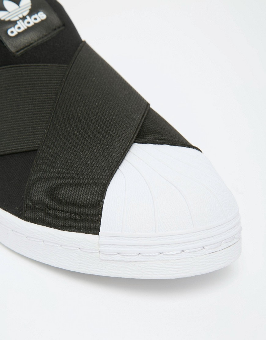 adidas Originals Black Superstar Slip On Trainers 4
