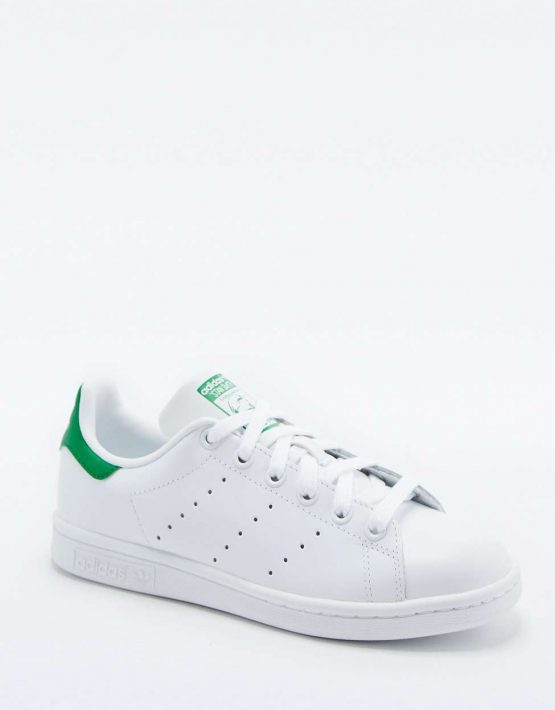 adidas Originals Stan Smith White and Green Trainers 1