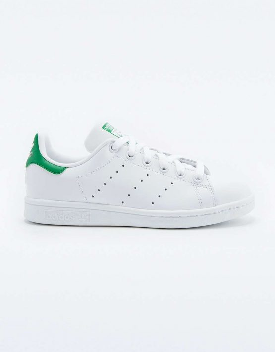 adidas Originals Stan Smith White and Green Trainers 2