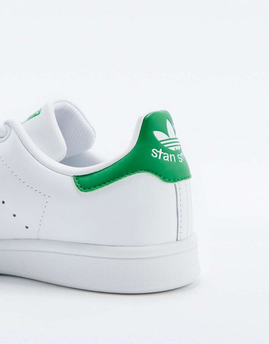 adidas Originals Stan Smith White and Green Trainers 4
