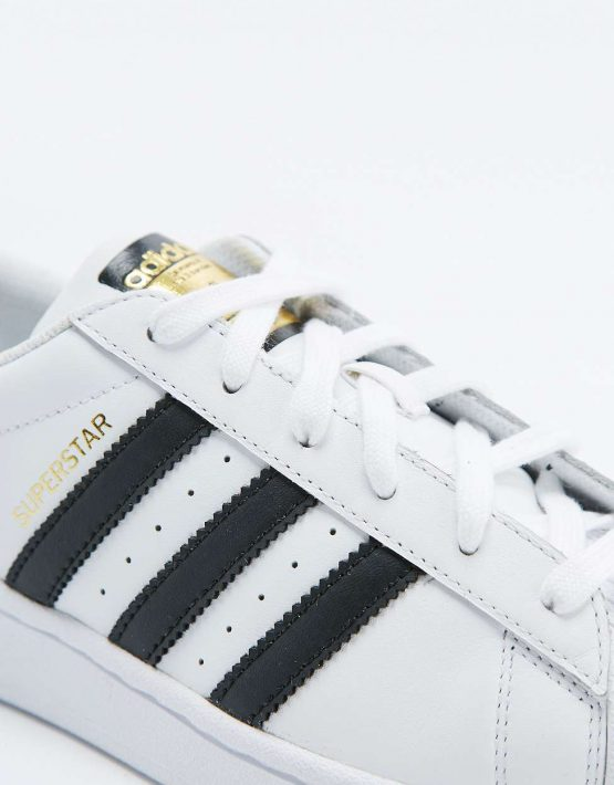 adidas Originals Superstar White and Black Trainers 4