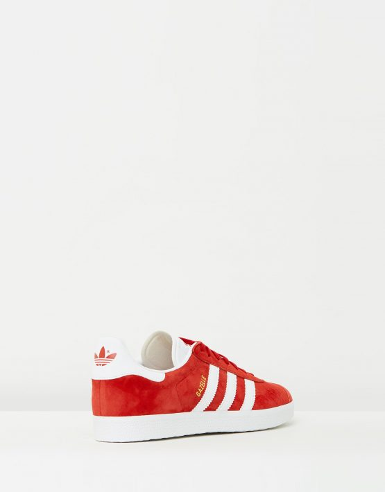 Adidas Mens Gazelle Power Red Sneakers 2