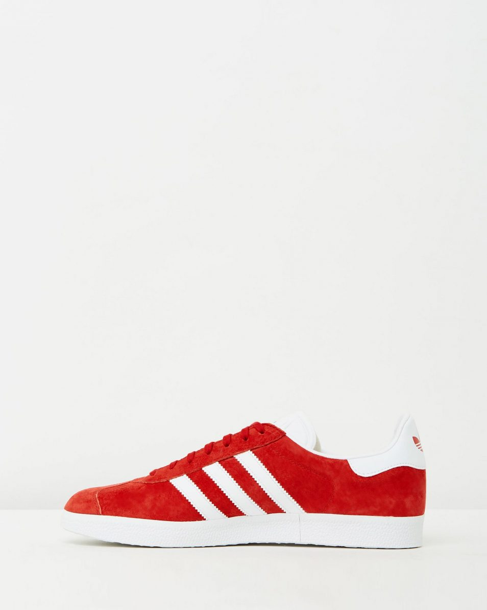 Adidas Mens Gazelle Power Red Sneakers 3