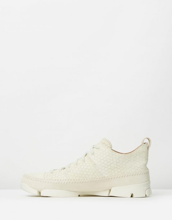 Clarks Originals Trigenic Flex Off White Interest Suede 3