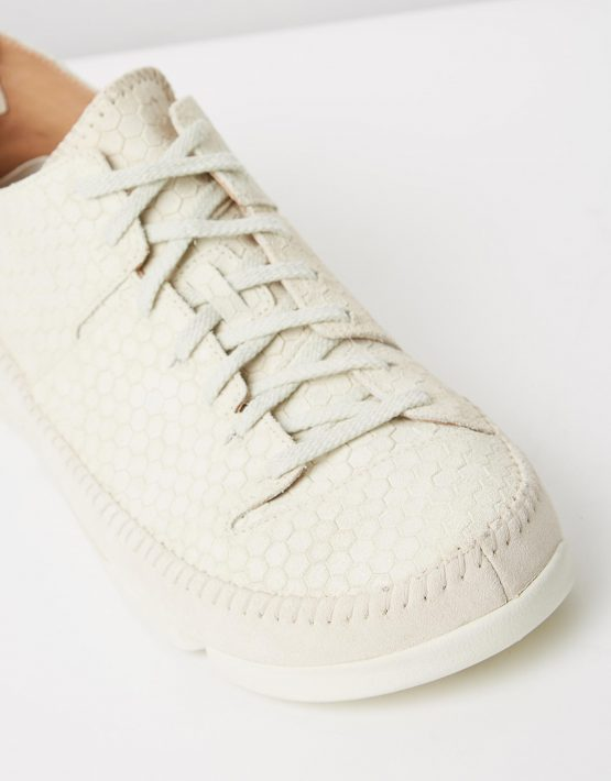 Clarks Originals Trigenic Flex Off White Interest Suede 4
