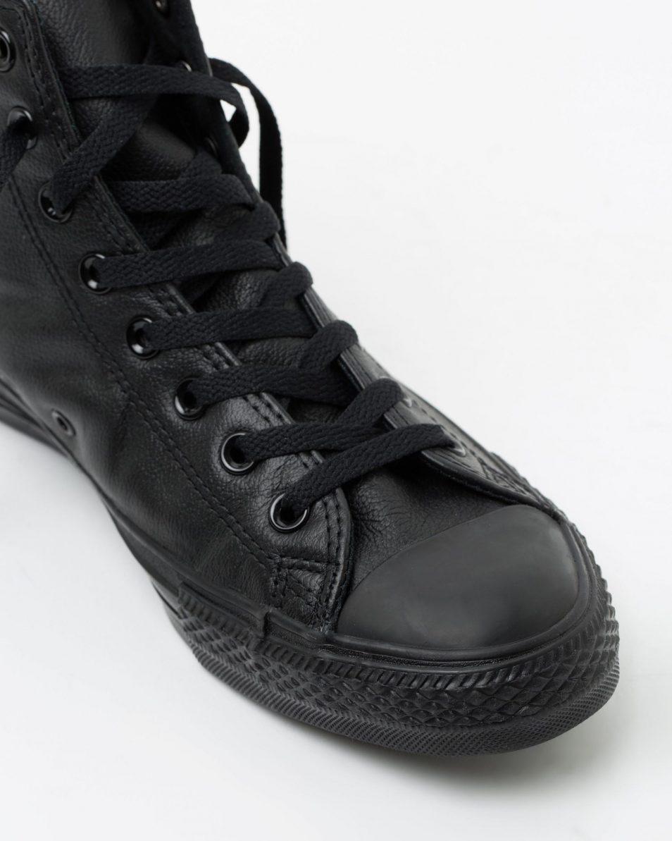 Converse Mens Chuck Taylor All Star Hi Black Monochrome Leather 4