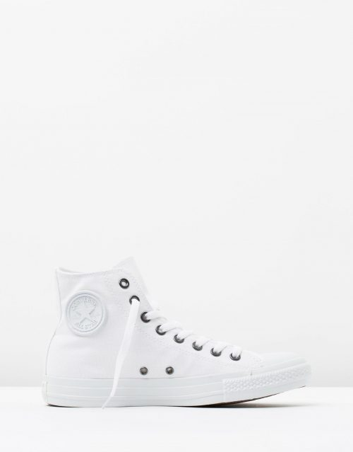 Converse Mens Chuck Taylor All Star Hi White Monochrome 1