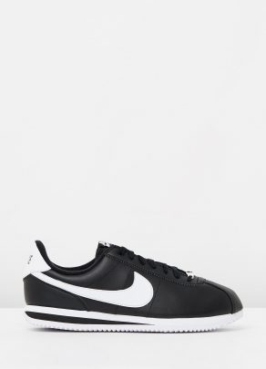 Nike Cortez Basic Leather Black White 1