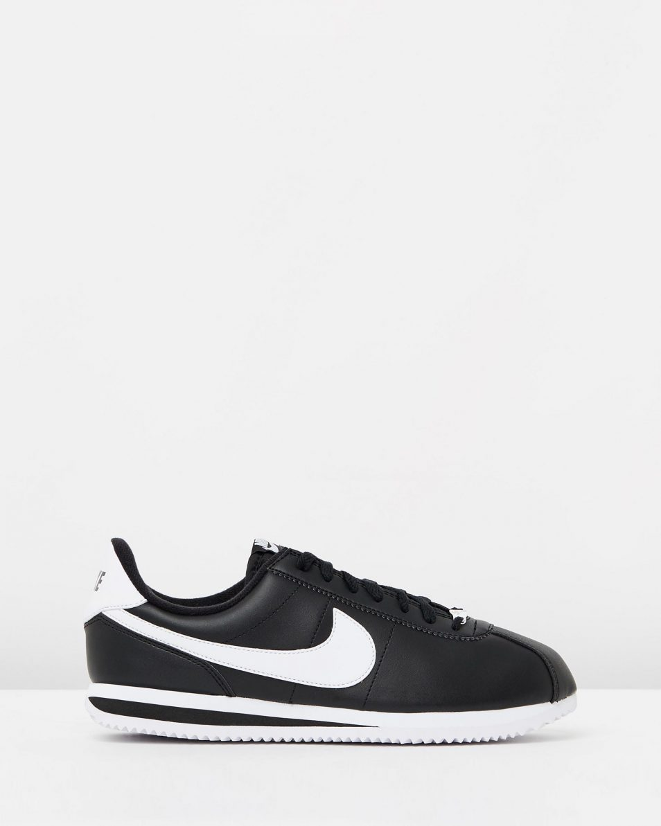 Nike Cortez Basic Leather Black White 1