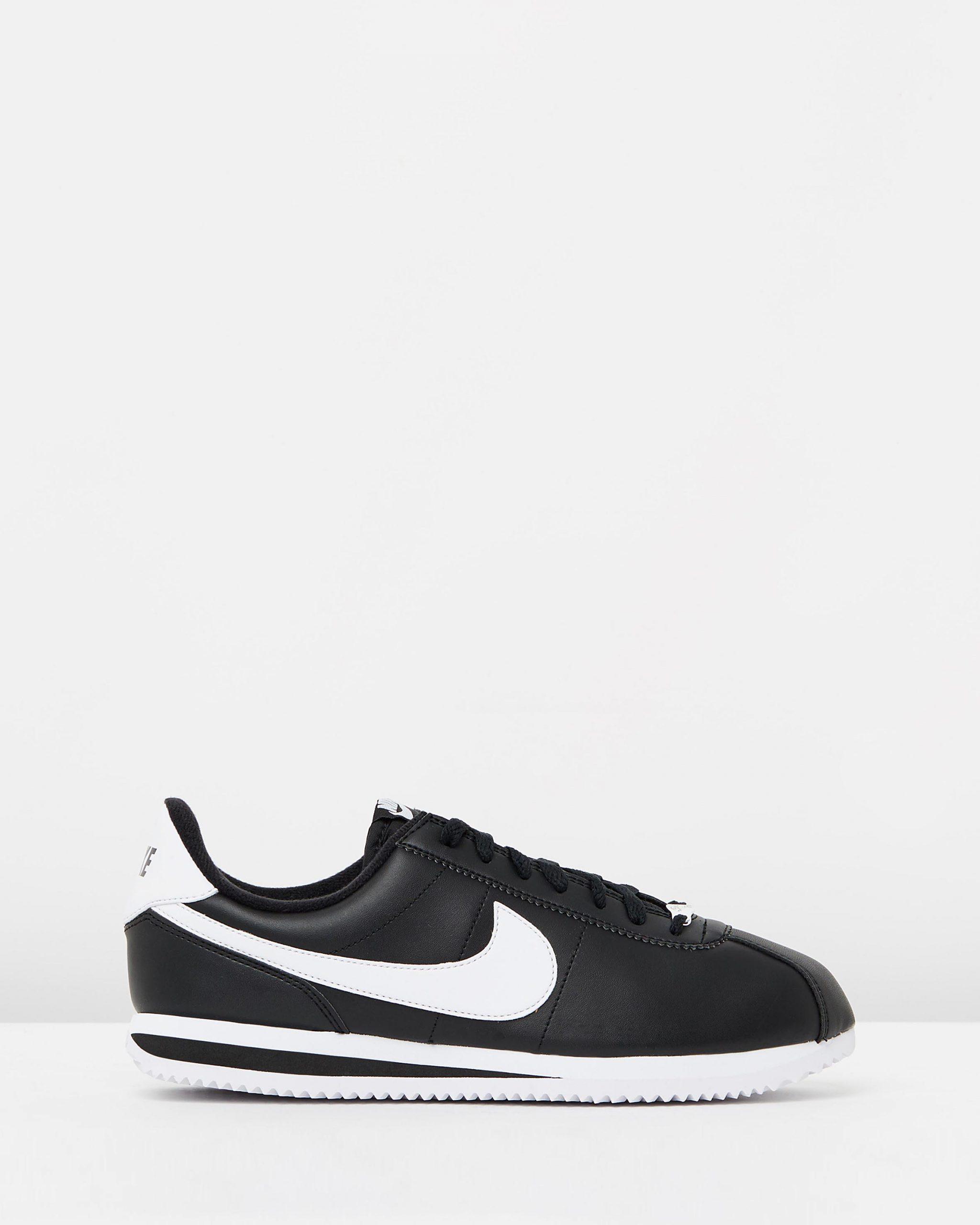 La risa Incienso dolor de muelas  Nike Cortez Basic Leather Black & White - 95Gallery.com