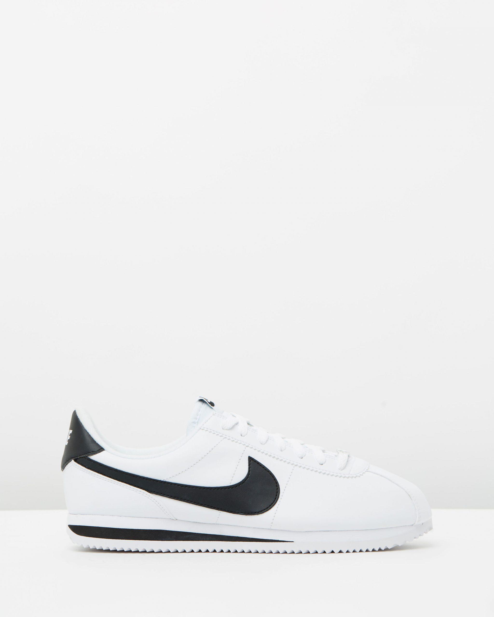 Nike Cortez Basic Leather White, Black & Metallic Silver