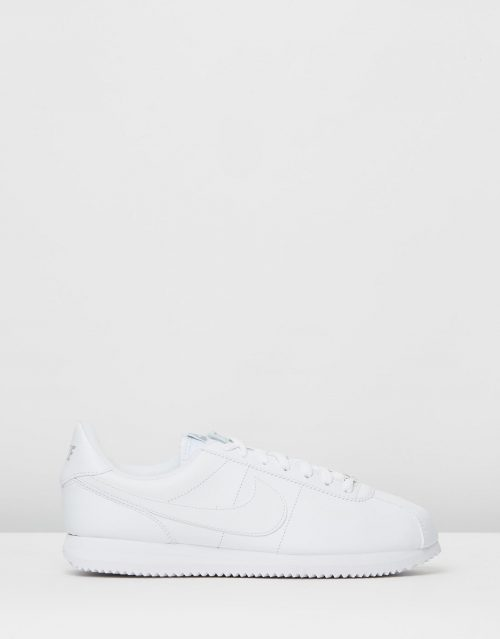 Nike Cortez Basic Leather White Wolf Grey Metallic Silver 1