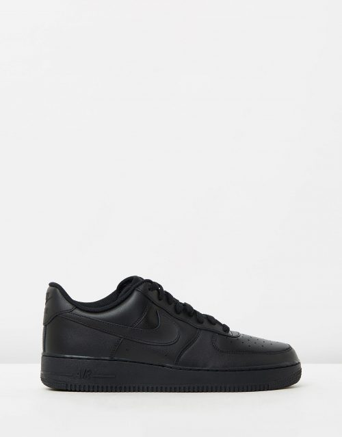 Nike Mens Air Force 1 07 Black Sneakers 1