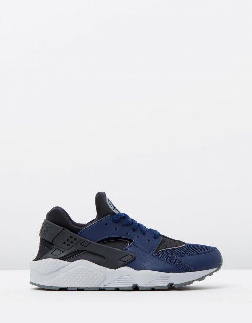 Nike Mens Air Huarache Mid Navy 1