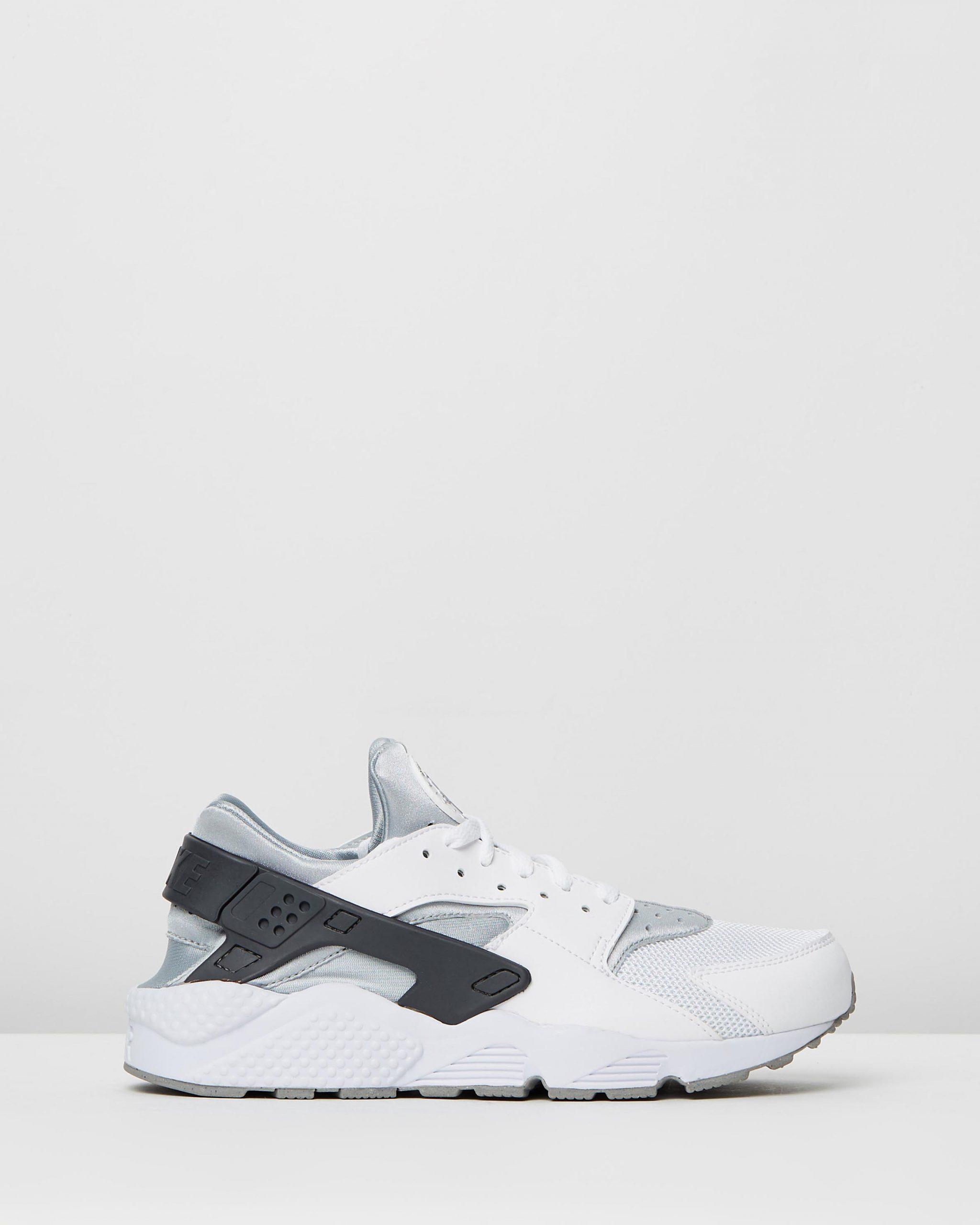 Nike Men's Air Huarache White & Wolf Grey