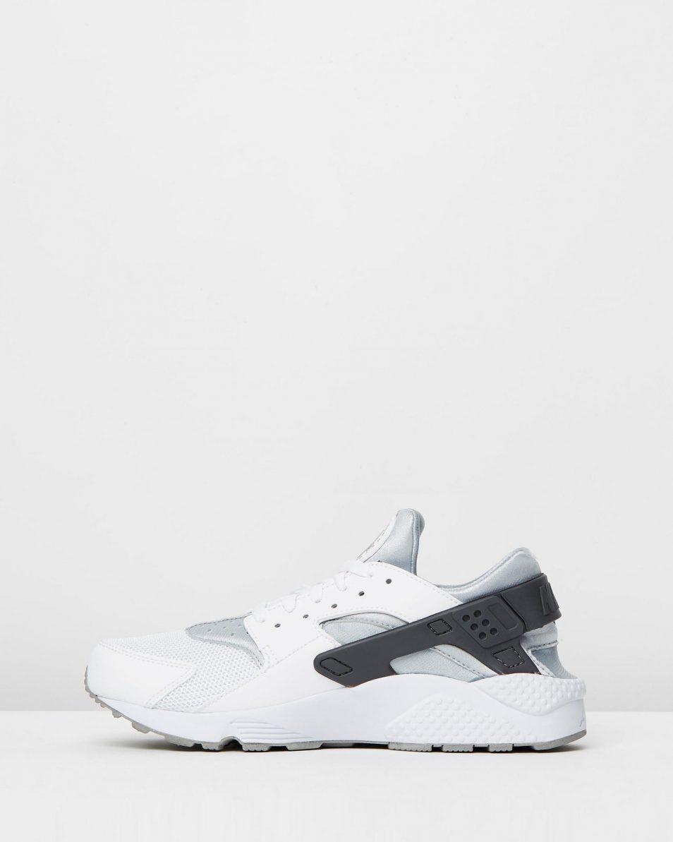 Nike Mens Air Huarache White Wolf Grey 3