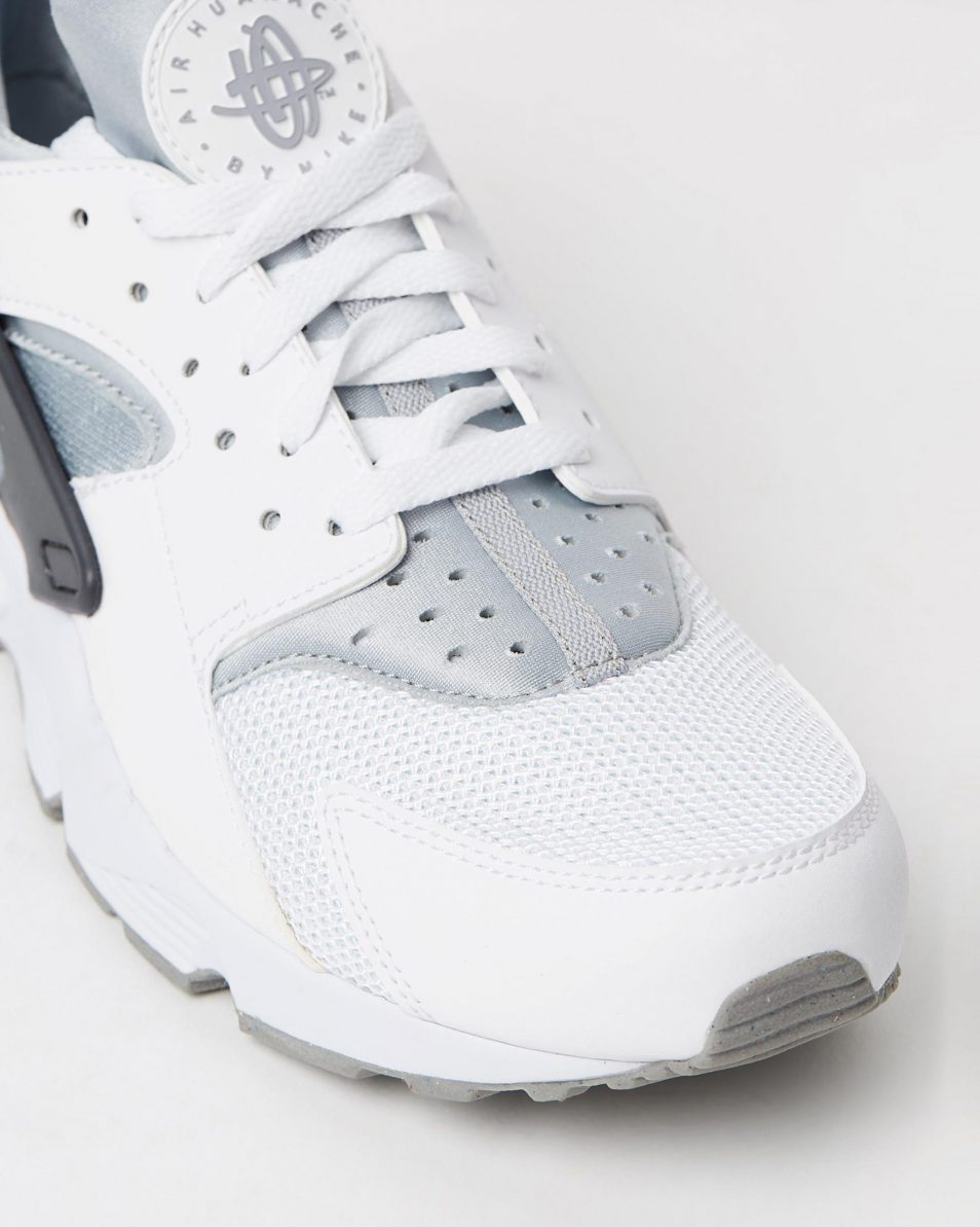 Nike Mens Air Huarache White Wolf Grey 4