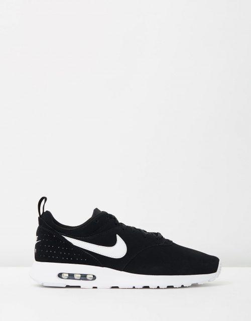 Nike Mens Air Max Tavas Leather Black White 1