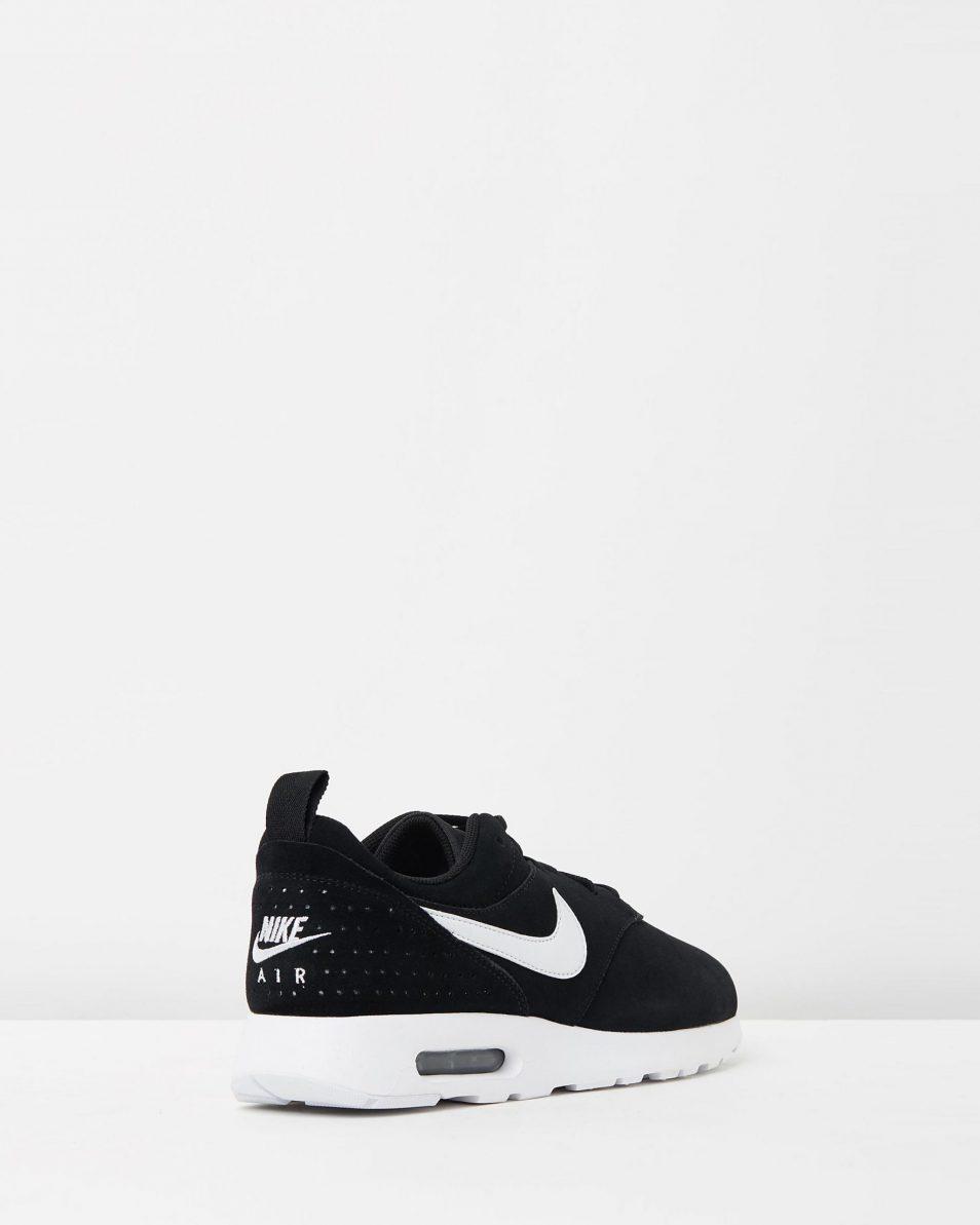 Nike Mens Air Max Tavas Leather Black White 2