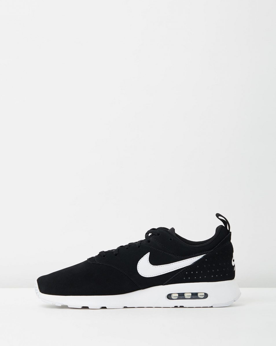 Nike Mens Air Max Tavas Leather Black White 3