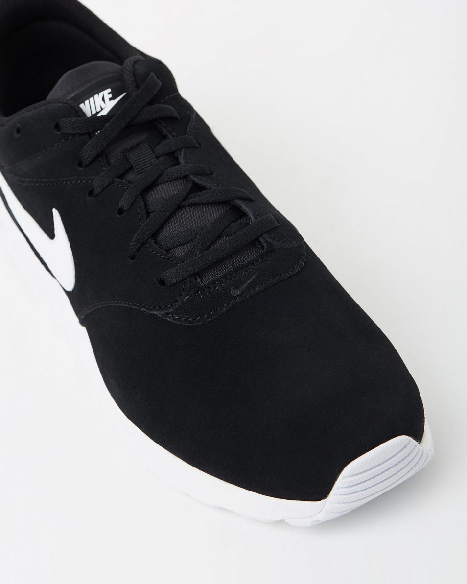 Nike Mens Air Max Tavas Leather Black White 4