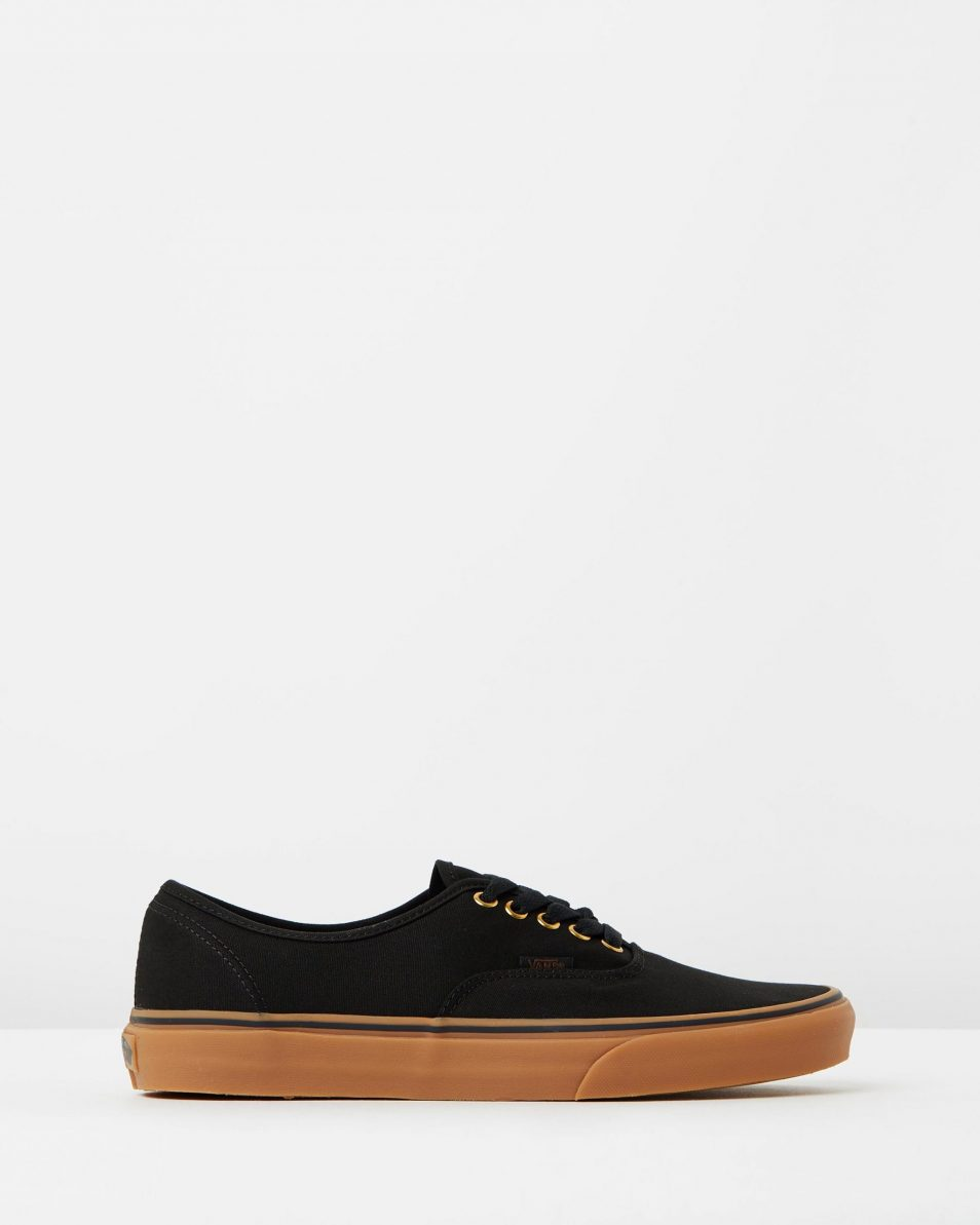 Vans Authentic Black Rubber Mens Trainers 1