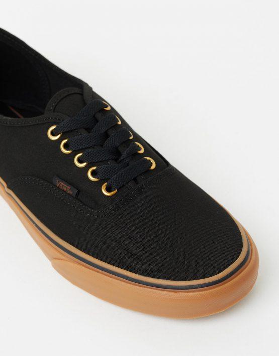 Vans Authentic Black Rubber Mens Trainers 4
