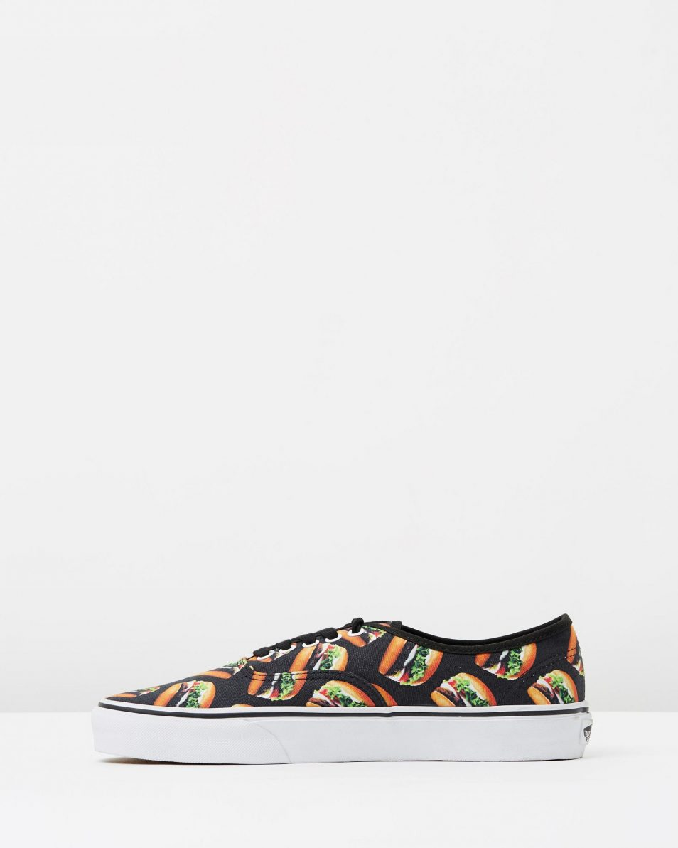 Vans Authentic Late Night Blk Hamburgers Mens Trainers 3