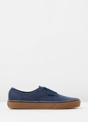 Vans Authentic Washed Canvas Dress Blues Gum Mens Trainers 1