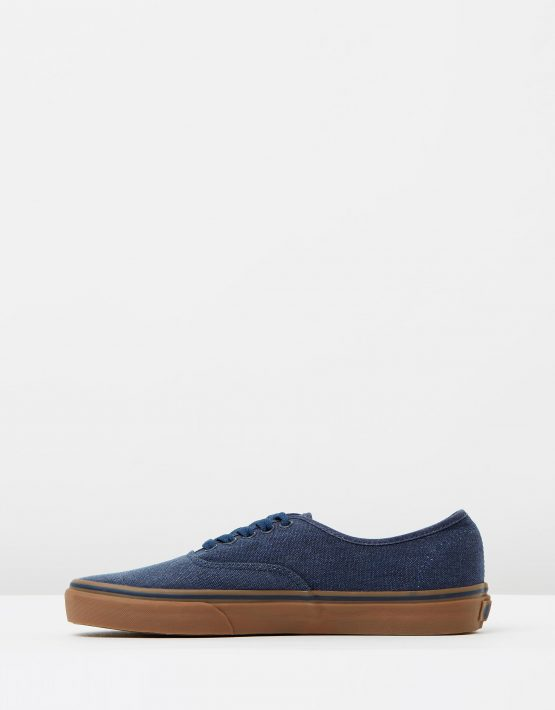 Vans Authentic Washed Canvas Dress Blues Gum Mens Trainers 3