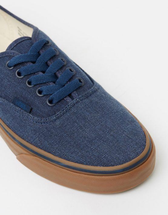 Vans Authentic Washed Canvas Dress Blues Gum Mens Trainers 4