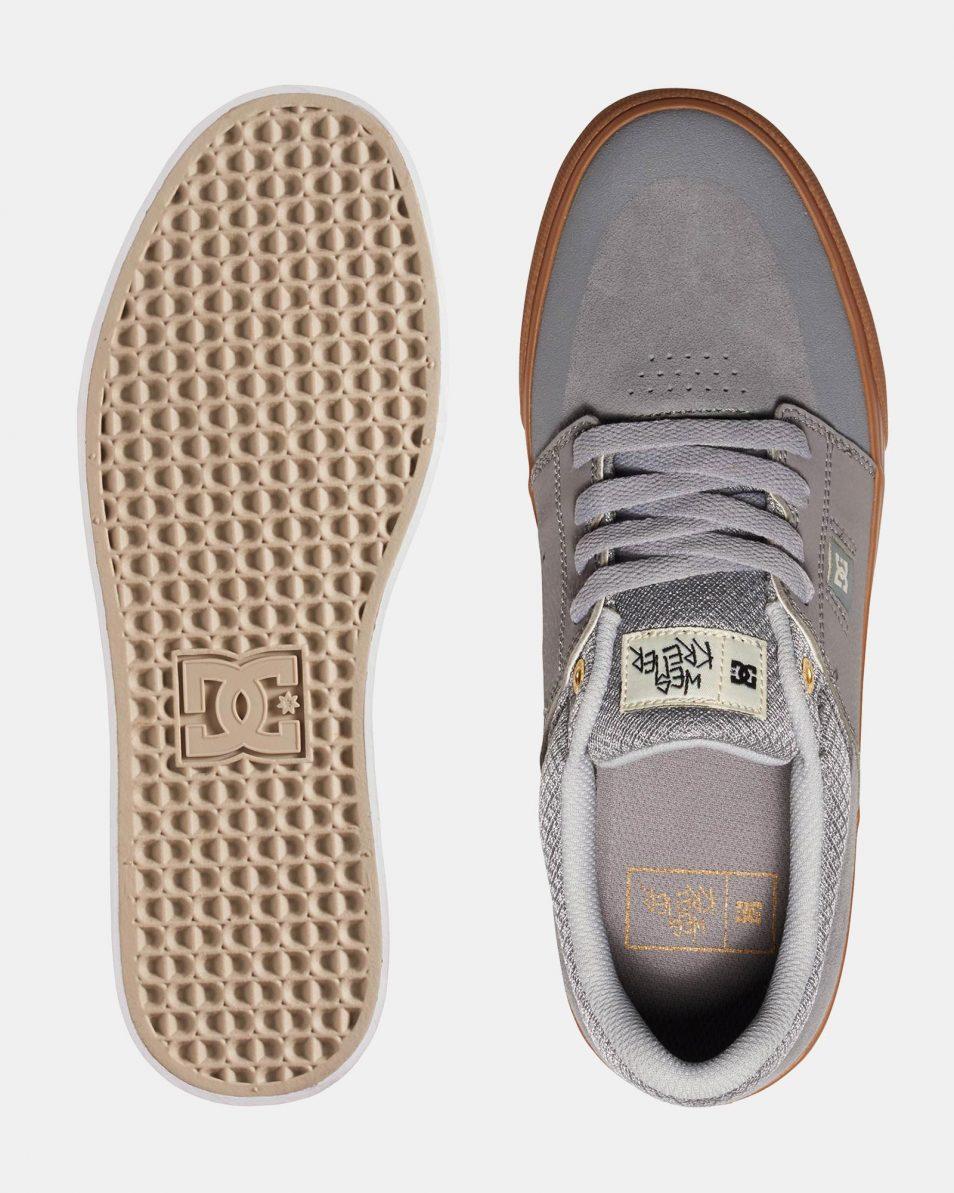 DC Mens Wes Kremer Shoe Grey Gum 2