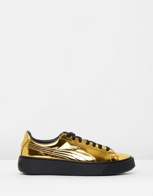 Puma Basket Platform Metallic Gold 1